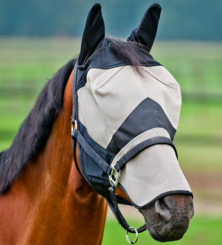 Equestar Fly Mask, Long - Vision Saddlery