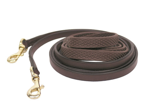 Nunn Finer Soft Grip Draw Reins with Snaps - Vision Saddlery