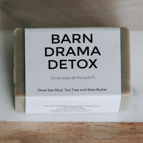 Soap for Dirty Equestrians - BARN DRAMA DETOX (Dead Sea Mud, Tea Tree, Shea Butter) - Vision Saddlery