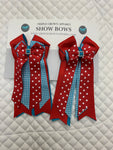 Show Bows - Various patterns/colours - Vision Saddlery