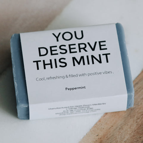 SOAP FOR DIRTY EQUESTRIANS - YOU DESERVE THIS MINT (Peppermint) - Vision Saddlery