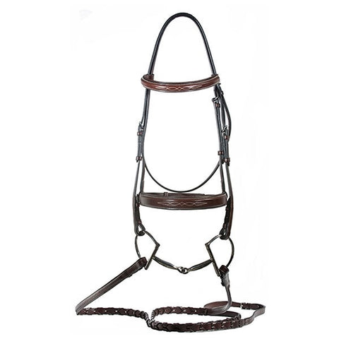 Nunn Finer Caterina Hunter Bridle w/ Laced Reins - Vision Saddlery
