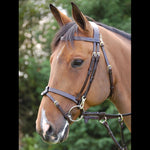 Dy'on Flat Flash Bridle with Snaps - Vision Saddlery