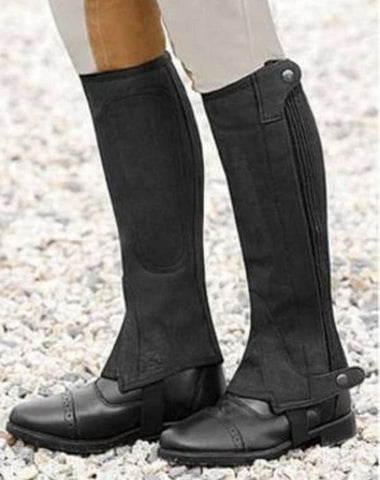 Can-Pro Suede Children's Half Chaps - Vision Saddlery