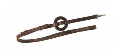 Camelot Leather Donut Side Reins Havana - Vision Saddlery