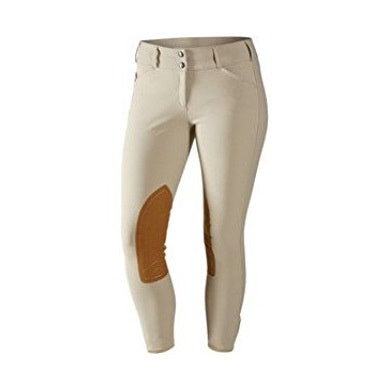Tailored Sportsman Low Rise Trophy Hunter Front Zip Youth Breeches, Tan - Vision Saddlery