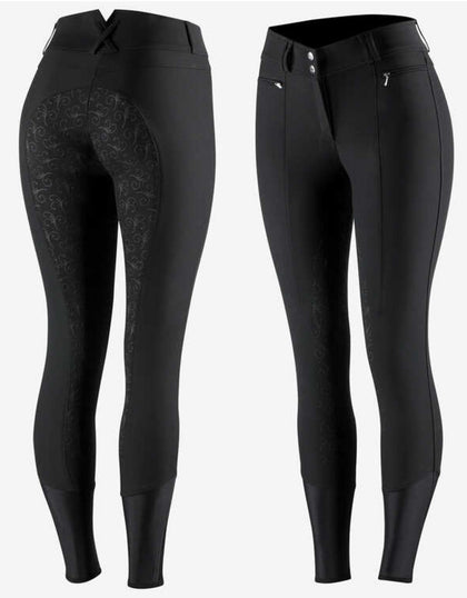 Horze Angelina Silicone Full Seat Breeches - Vision Saddlery