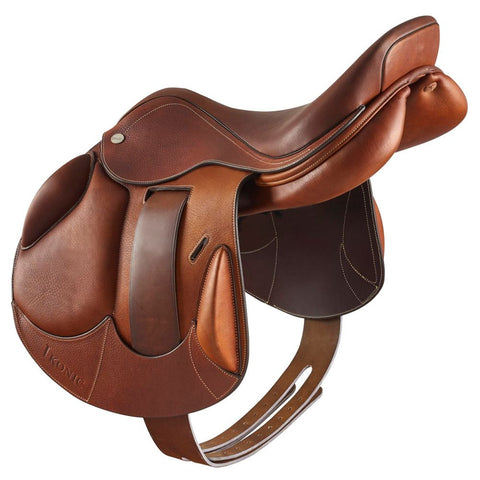 "IKONIC EVOLUTION CROSS COUNTRY SADDLE MONO FLAP 17.5"" - Vision Saddlery"