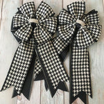 My Barn Child Show Bows - Black/White Houndstooth - Vision Saddlery