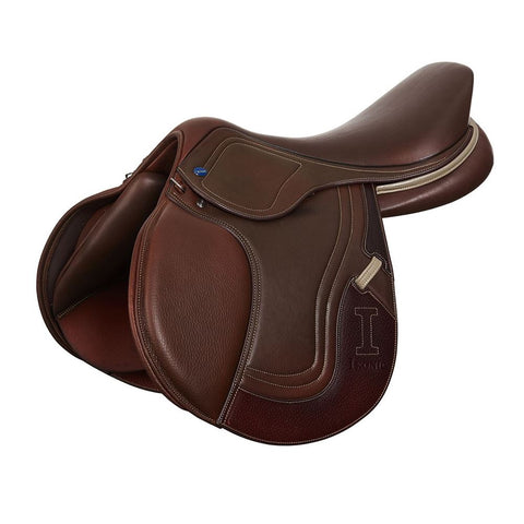 "IKONIC JUMPING SADDLE ""EVOLUTION"" CALFLINED HALF DEEP SEAT - Vision Saddlery"