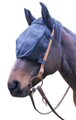 Cavallo Simple Ride Fly Mask Without Ears Black - Vision Saddlery