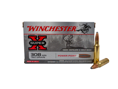 Winchester 308 Win 180gr Power Point Centrefire Ammunition