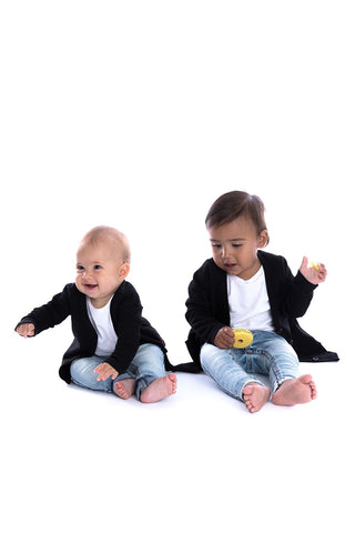 Signature Cardigan for Kids - Jet Black