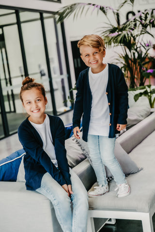 Signature Cardigan for Kids - Navy