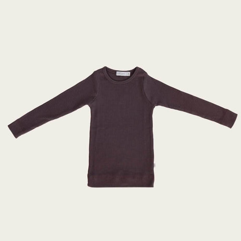 Organic Essential Long Sleeve Top - Wisteria