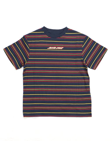 Melting Strip Tee - Navy, Red and Yellow