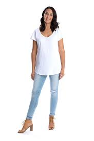 Signature V-Neck Tee - White