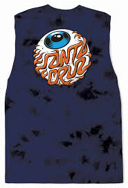 Youth Muscle Shirt - Eyeball - Navy Tie Dye