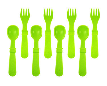 Fork and Spoon Set - Green