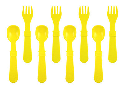 Fork and Spoon Set - Yellow