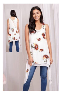 Layer Top - White Floral