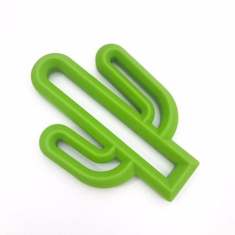 Cactus Silicone Teether - Green