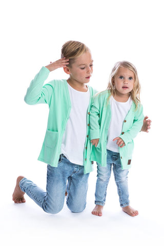Signature Cardigan for Kids - Spearmint