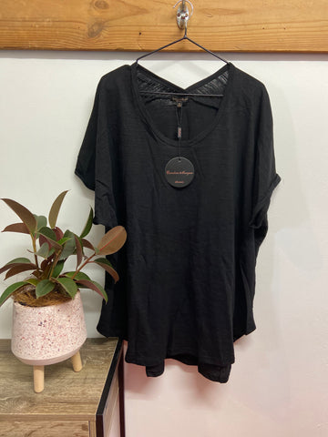 Cape Back Tee - Black