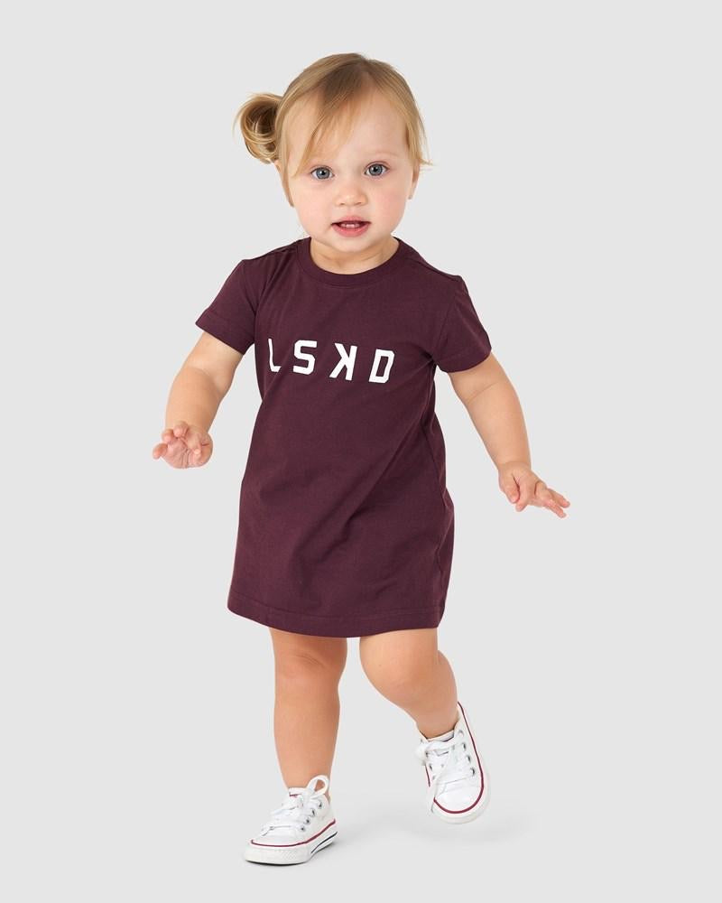 Structure Tee Dress - Wine