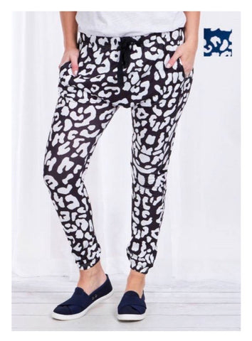 Slouch Pants - Navy Animal