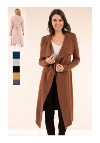 Long Winter Coat - Brown