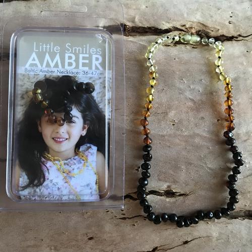 Baltic Amber Necklace 36-47cm - Rainbow
