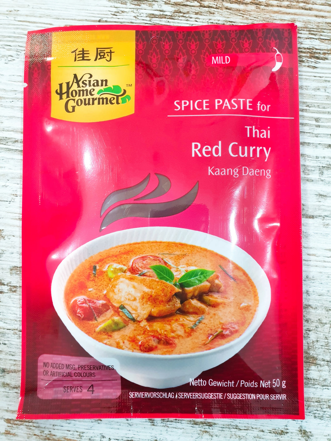 ASIAN HOME GOURMET PASTA DE CURRY ROJO