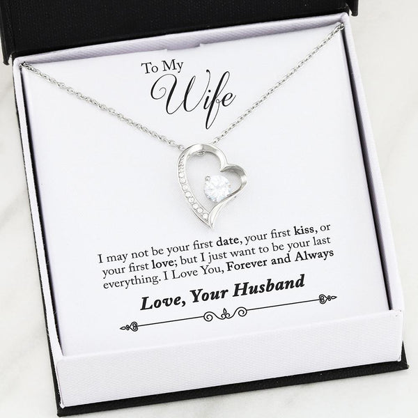Husband to Wife Gift - Heart Necklace with Poem