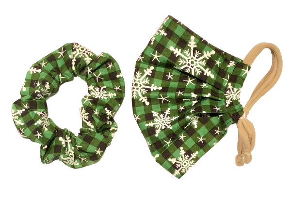 Green Plaid Snowflakes