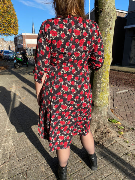 Lilly Dress Red Flower