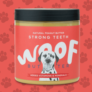 Peanut Butter For Dogs | Strong Teeth | Woof Butter