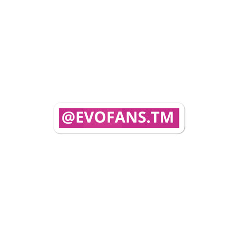 PINK EVOFANS CAR STICKER