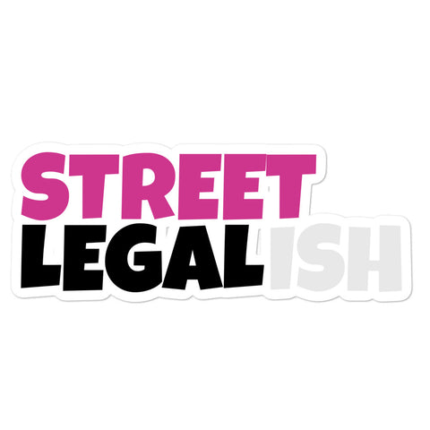 PINK STREET LEGALISH STICKER