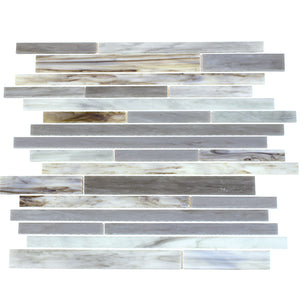 Antique Ice Random Strip Glass Mix Mosaic