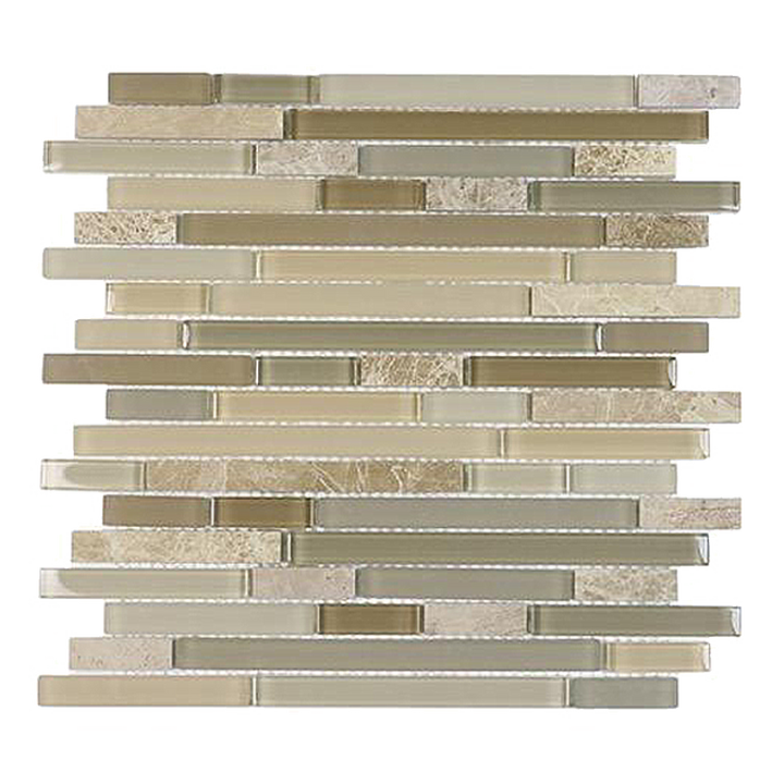 Brown Staccato Quartzet & Glass Strips