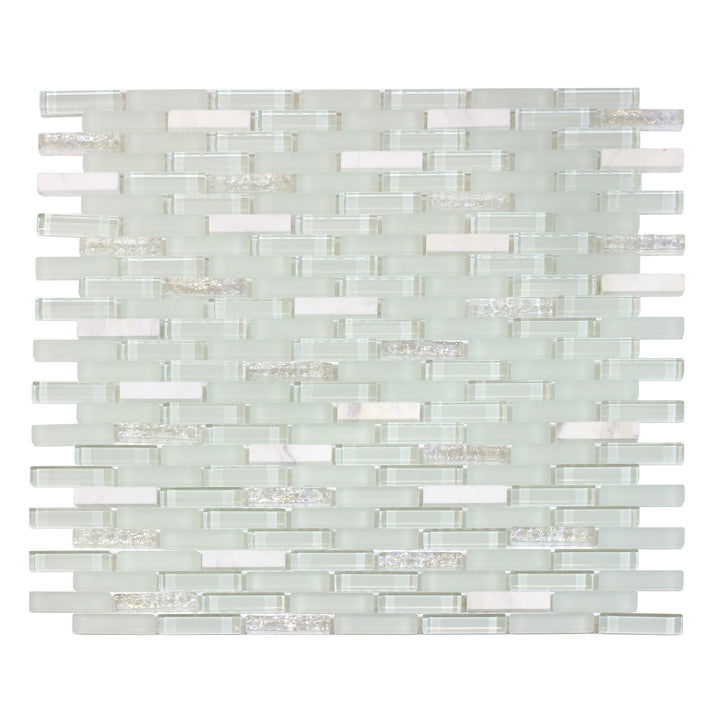 Ballentine Marble & Glass Mix Random Strip Mosaic