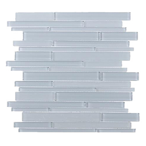 Ice Block Random Strip Glass Mosaic