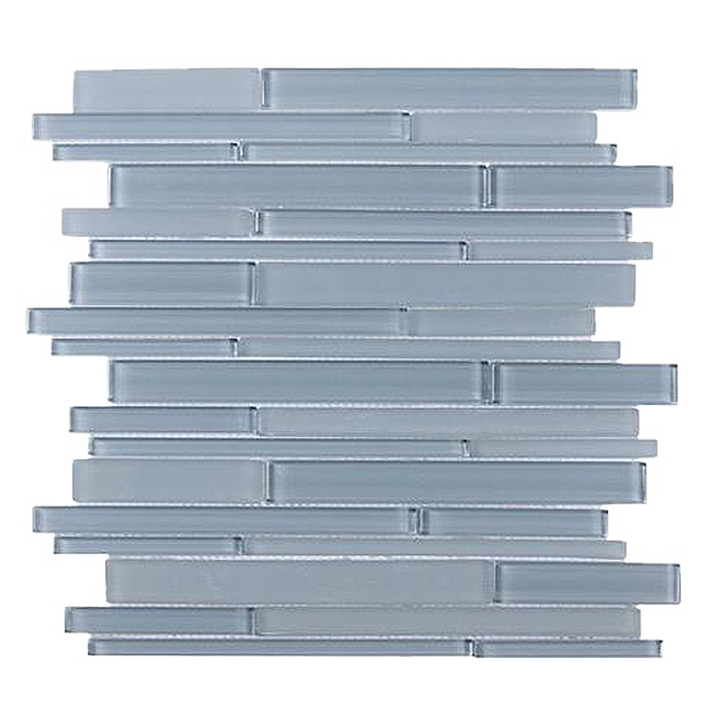 Azure Random Strip Glass Mix Mosaic