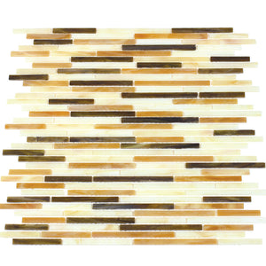Natural Weave Random Strip Glass Mix Mosaic