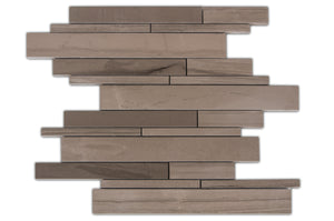 Athens Gray Random Strip Honed Mosaic