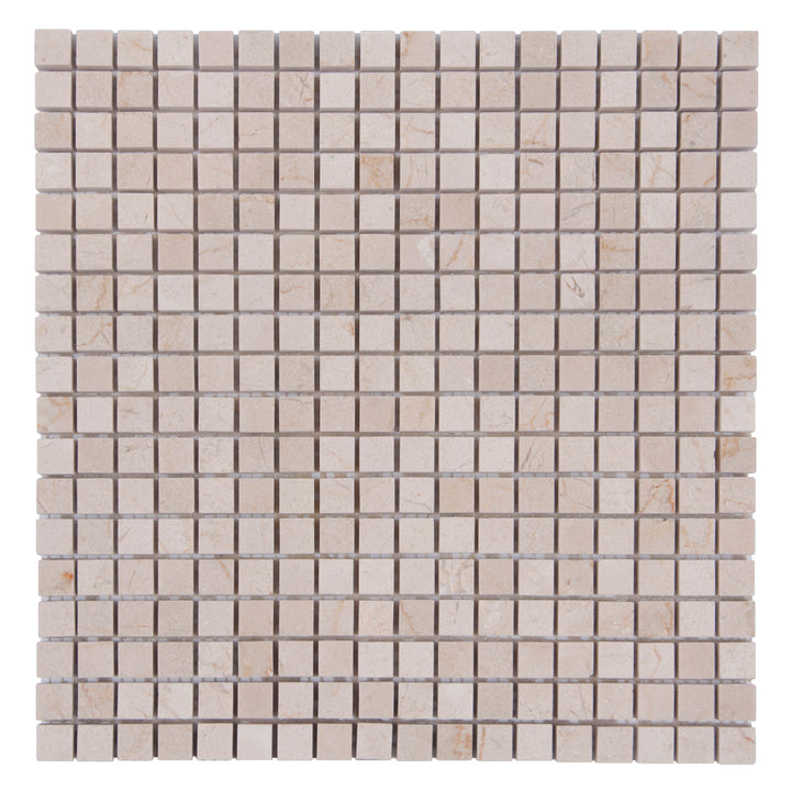 5/8 Cream Marfil Polished Mosaic