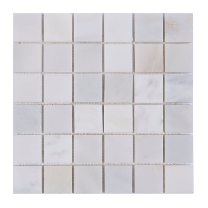 2x2 Oriental White Honed Marble Mosaic