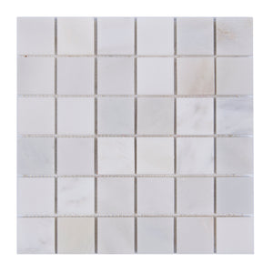 2x2 Oriental White Polished Marble Mosaic
