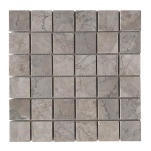 Gray Cloud 2x2 Polished Marble Mosaic